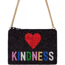 Kindness Glitter Cross-Body Bag