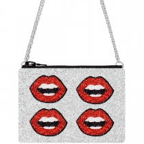 Lips Glitter Cross-Body Bag