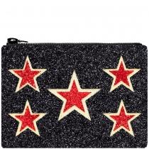 Star Shield Glitter Clutch Bag