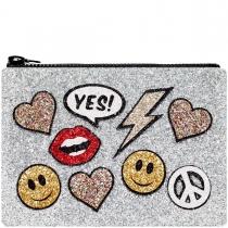 Stickers Glitter Clutch Bag