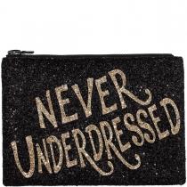 Never Underdressed Glitter Clutch Bag
