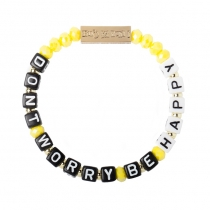 Don't Worry Be Happy Stretch bracelet