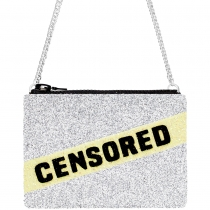Censored Glitter Cross-body Bag