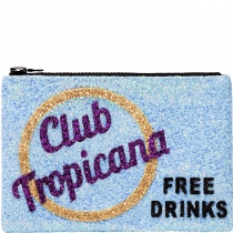 Club Tropicana Glitter Clutch Bag