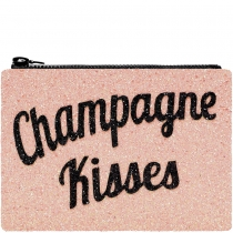 Champagne Kisses Glitter Clutch Bag