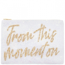 From This Moment On Glitter Clutch Bag