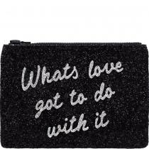 What's Love Glitter Clutch Bag