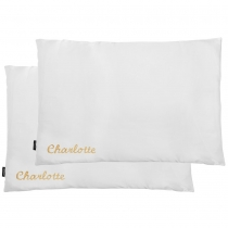 Double Silk Personalised Pillowcases White