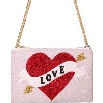 Love Heart Glitter Cross-body Bag