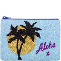 Aloha Glitter Clutch Bag
