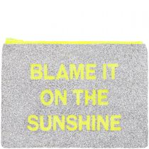LARGE Sunshine Glitter Clutch Bag