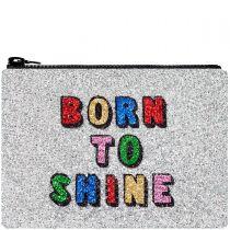 Born To Shine Glitter Clutch Bag