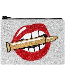 Catching Bullets Glitter Clutch Bag