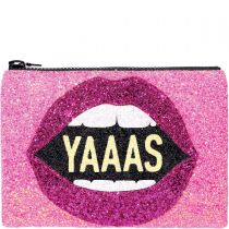 YAAAS Glitter Clutch Bag