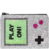 Play On Glitter Clutch Bag