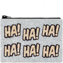 Ha Ha Glitter Clutch Bag