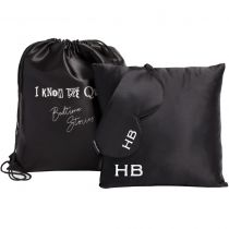 HB London x I Know The Queen Silk Personalised Travel Set Black