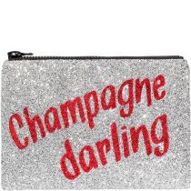 Champagne Darling Glitter Clutch Bag