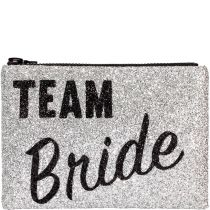 Team Bride Glitter Clutch bag