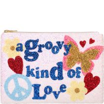 A Groovy Kind Of Love Glitter Clutch Bag