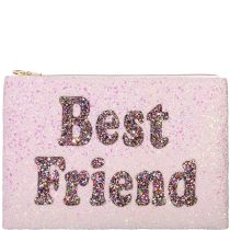 Best Friend Glitter Clutch Bag
