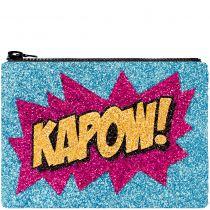 Kapow Glitter Clutch Bag
