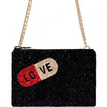 Love Pill Glitter Cross-Body Bag