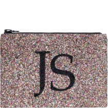 Multi Monogram Glitter Clutch Bag
