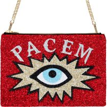 Pacem Glitter Clutch Shoulder Bag