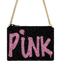 Black Pink Punk Glitter Cross-Body Bag