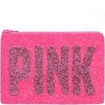 LARGE Pink Glitter Clutch Bag