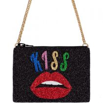 Kiss Glitter Cross-Body Bag