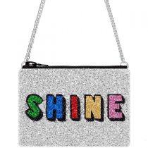 Silver Rainbow Glitter Cross-Body Bag