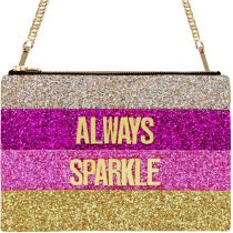 Always Sparkle Glitter Clutch Shoulder Bag