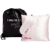 Silk Personalised Travel Set Pink