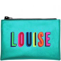 Personalised Metallic Turquoise Clutch Bag