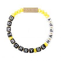 Don't Worry Be Happy Stretch bracelet