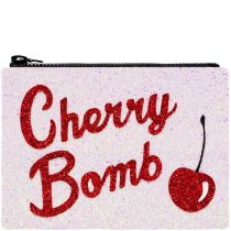 Cherry Bomb Glitter Clutch Bag