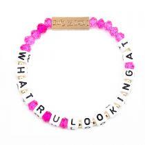 What R U Looking At Stretch Bracelet