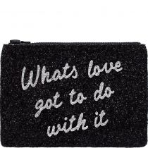 What's Love Glitter Clutch Bag