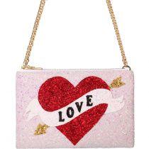 Love Heart Glitter Cross-body Bag