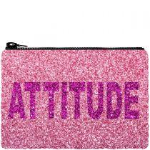 Attitude Glitter Clutch Bag