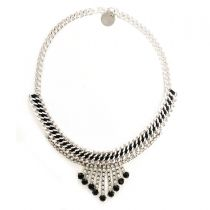 Black and Silver Necklace 03