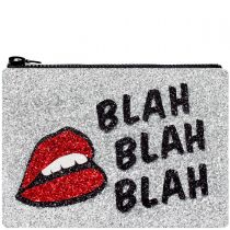 Blah Blah Blah Glitter Clutch Bag