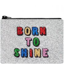 Born To Shine Glitter Clutch Bag