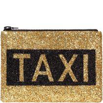 Taxi Glitter Clutch Bag