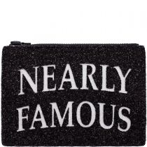 Nearly Famous Glitter Clutch Bag