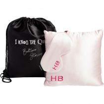 HB London x I Know The Queen Silk Personalised Travel Set Pink