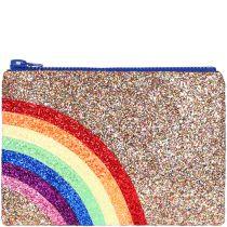 Rainbow Glitter Clutch bag