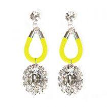 Planet Earrings Yellow